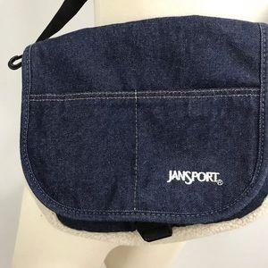 674e361c44 Jansport Bags - JanSport Crossbody Denim Corduroy Faux Sheepskin